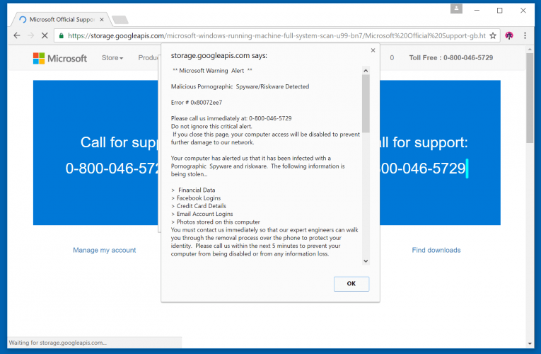 Fake Microsoft Support Scams